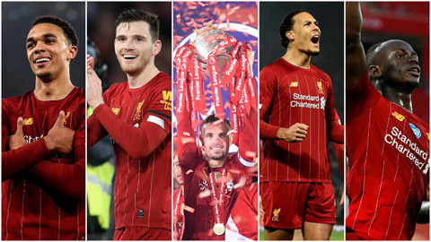 Liverpool áp đảo ở đội hình tiêu biểu Ngoại hạng Anh mùa 2019/20