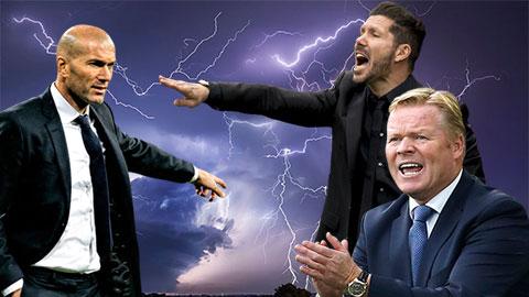 Simeone, Zidane và Koeman tranh tài ở La Liga 2020/21:  Cuộc chiến giữa các vị thần
