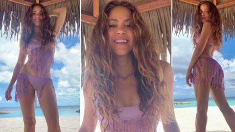 Bồ Pique khoe body bỏng mắt ở tuổi 43 trong bộ bikini bé xíu