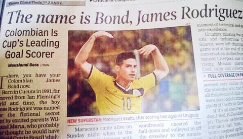 Không phải vô cớ mà báo giới giật tít James theo nhân vật James Bond