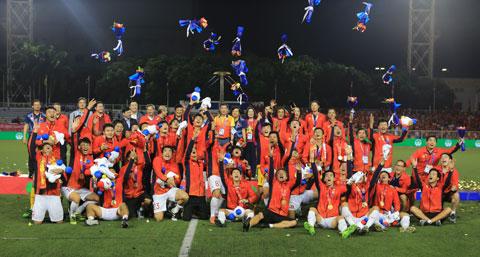 U23 Việt Nam với tấm HCV SEA Games 2019Ảnh: ĐỨC CƯỜNG