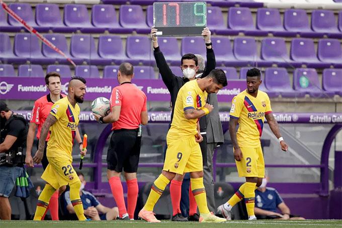 Mùa tới các đội ở La Liga mỗi trận được sử dụng 5 quyền thay người