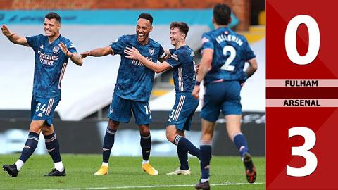 Fulham 0-3 Arsenal: Aubameyang và Willian giúp Pháo thủ thắng đậm