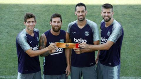Messi được bầu lại làm đội trưởng Barca