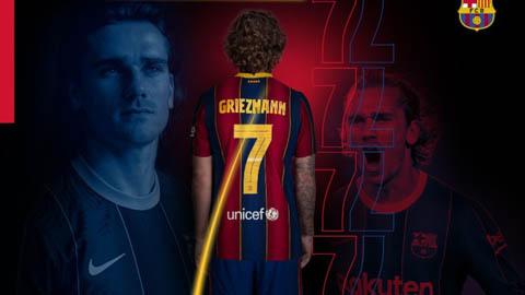 Griezmann nhận số áo mới ở Barcelona