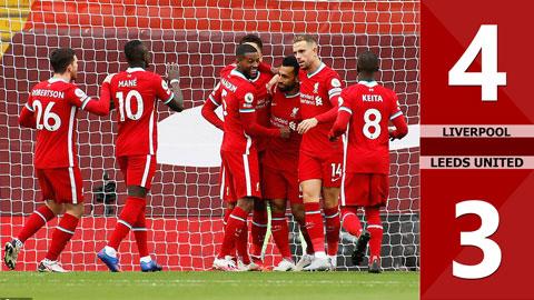 Liverpool 4-3 Leeds United: Màn rượt đuổi tỷ số bất ngờ