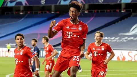 Coman ăn mừng bàn thắng duy nhất cho bayern trước PSG ở chung kết Champions League vừa qua