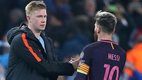 Kevin de Bruyne: 'Tôi không quan tâm Messi có tới Man City hay không'