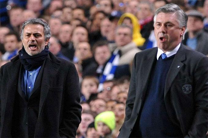 Cả HLV Mourinho và Ancelotti đều từng vô địch Champions League với 2 CLB khác nhau