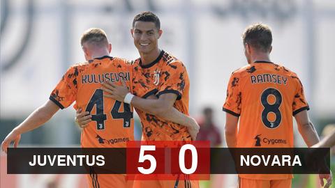 Kết quả Juventus 5-0 Novara: Ronaldo khai hỏa, Juventus đại thắng dưới triều đại của Pirlo