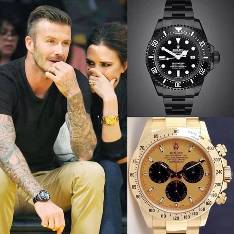 Becks chuyên đeo đồng hồ bên tay phải cho… nổi bật hơn