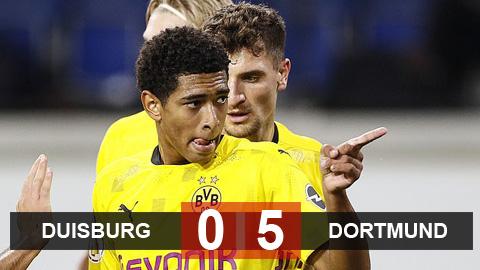 Sancho và thần đồng Bellingham nổ súng, Dortmund nghiền nát Duisburg