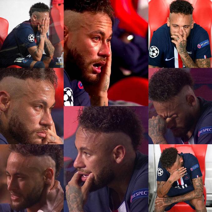 Neymar rất mau nước mắt