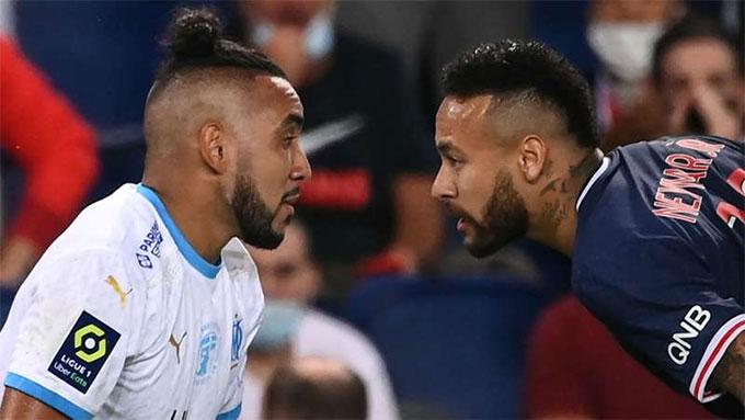 Neymar vừa phải nhận thẻ đỏ ở trận PSG thua Marseille 0-1