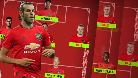 4 cách Solskjaer bố trí đội hình M.U nếu có được Bale