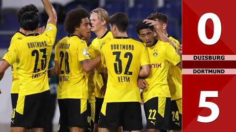 Duisburg 0-5 Borussia Dortmund (Vòng 1 Cúp Quốc gia Đức 2020/21)