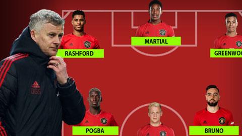 4 cách sắp xếp tuyến giữa của M.U ở trận khai màn Premier League