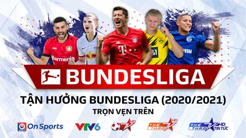 Thưởng thức Bundesliga mùa giải 2020/21 trên sóng của VTV, VTC và VTVCab