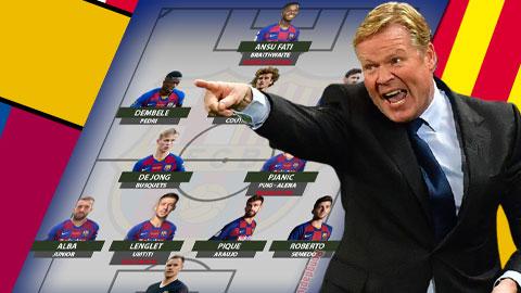 Với Koeman, Barca sẽ dùng 4-2-3-1 thay 4-3-3