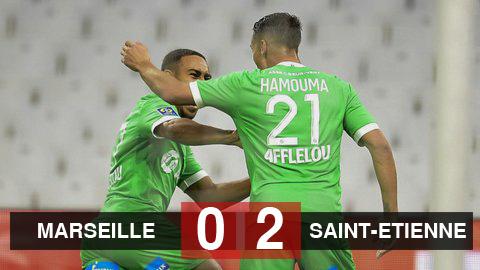 Kết quả Marseille 0-2 Saint-Etienne: Chủ nhà bất ngờ đứt mạch toàn thắng