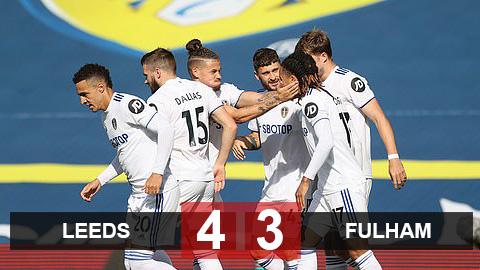 Kết quả Leeds 4-3 Fulham: Tái lập mưa bàn thắng 7 quả, Leeds đổi vận