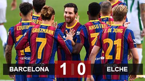 Kết quả Barca 1-0 Elche: Người hùng Griezmann