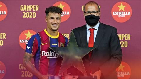 Coutinho nhận giải thưởng cá nhân đầu tiên tại Barca