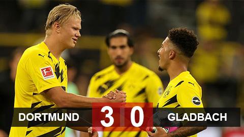 Kết quả Dortmund 3-0 MGladbach: Haaland & Sancho chói sáng mang về 3 điểm ra quân cho Dortmund