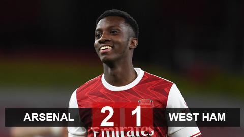 Kết quả Arsenal 2-1 West Ham: Sao trẻ ghi bàn phút cuối, Arsenal nhọc nhằn giành 3 điểm