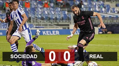 Kết quả Sociedad 0-0 Real: Benzema tịt ngòi, Real sảy chân trận ra quân