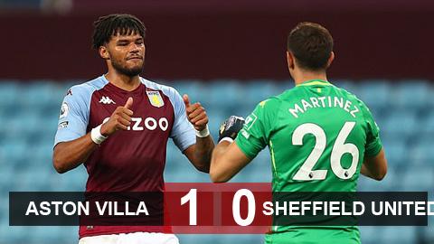 Kết quả Aston Villa 1-0 Sheffield United: Tân binh Martinez tỏa sáng trên chấm 11m