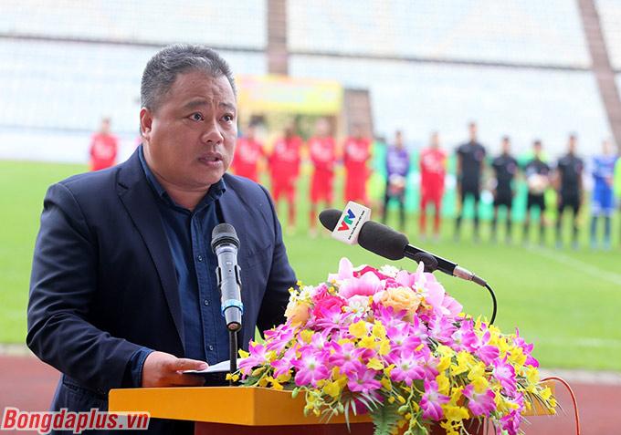 Ông Nguyễn Minh Ngọc - Phó tổng thư ký VFF, Trưởng BTC giải phát biểu khai mạc
