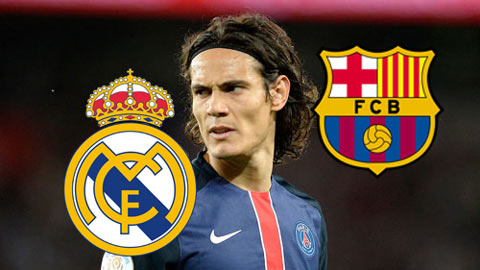 Real và Barca bất ngờ tranh giành Cavani
