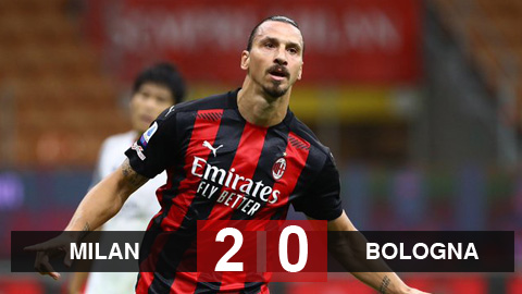 Kết quả AC Milan 2-0 Bologna: Ibrahimovic lập cú đúp, Milan ra quân thắng lợi