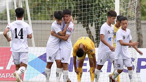 """Vòng chung kết U17 Quốc gia: Thắng đậm SLNA, Học viên NutiFood gặp """"người anh em"""" HAGL ở bán kết"""