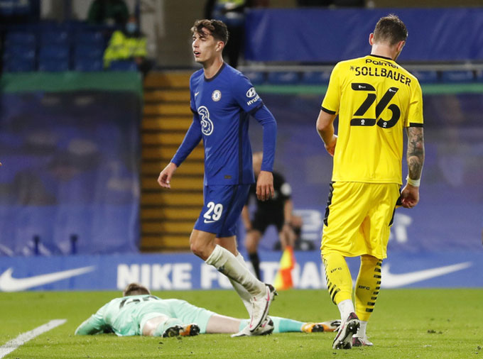 Havertz đã mở tài khoản ở Chelsea theo cách ấn tượng