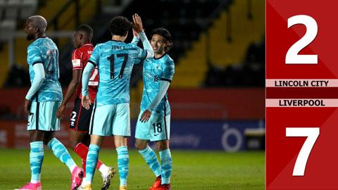 Lincoln City 2-7 Liverpool (Vòng 4 Carabao Cup 2020)