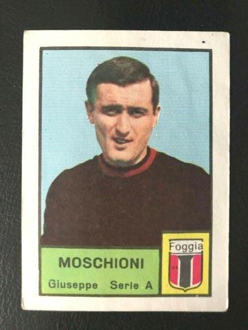 Moschioni là cầu thủ đầu tiên được thayra theo luật chính thức