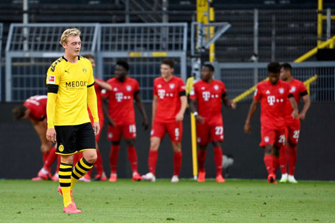 Julian Brandt giờ là nỗi thất vọng lớn của Dortmund và chủ yếu vào sân từ ghế dự bị