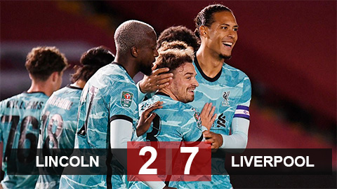 Kết quả Lincoln 2-7 Liverpool: Ngày của những kép phụ