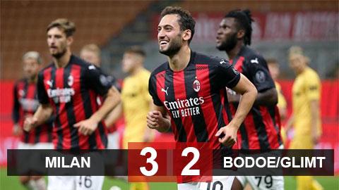 Kết quả Milan 3-2 Bodoe/Glimt: Rossoneri vào vòng play-off Europa League