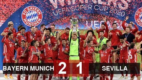 Kết quả Bayern Munich 2-1 Sevilla: Hùm xám giành Siêu cúp châu Âu 2020