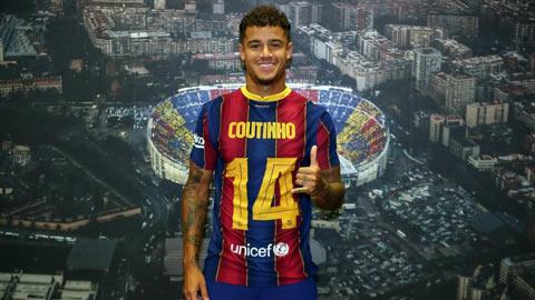Coutinho nhận số áo lạ tại Barca