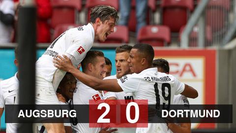 Kết quả Augsburg 2-0 Dortmund: Thắng ứng viên vô địch, Augsburg tạm chiếm ngôi đầu Bundesliga