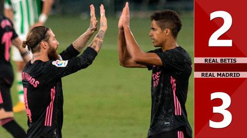Real Betis 2-3 Real Madrid (Vòng 3 La Liga 2020/21)