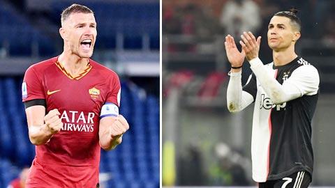 Dzeko vs Ronaldo: Hai đồng đội hụt đối đầu ở Olimpico