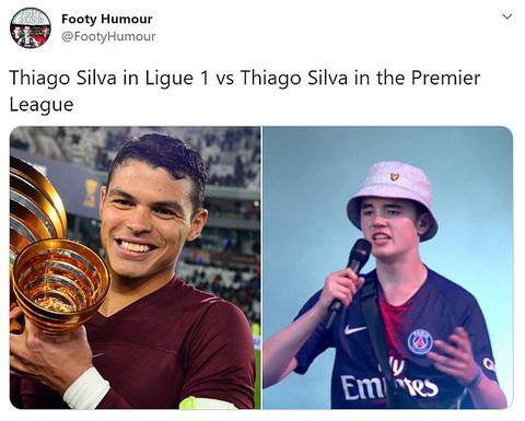 Trung vệ Thiago Silva cũng là mục tiêu bị chỉ trích