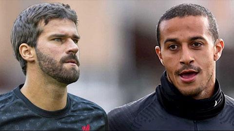 Thiago Alcantara và Alisson nguy cơ lỡ đại chiến Liverpool vs Arsenal