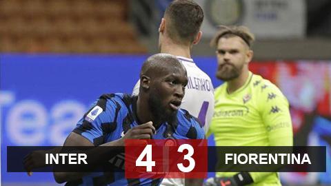 Kết quả Inter 4-3 Fiorentina: Lukaku và Sanchez khiến ngày thăng hoa của Ribery thành công cốc