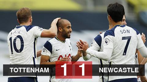 Kết quả Tottenham 1-1 Newcastle: Kane - Son vô duyên, Tottenham bị chia điểm vì VAR